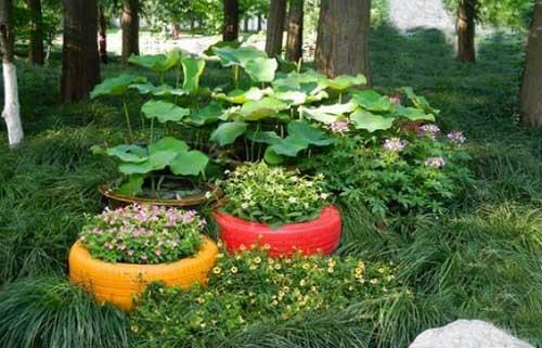 """搭建""""绿""""色花盆和景观小品设计,成为了公园或街景一道亮丽的风景线."""