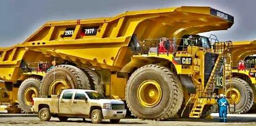 大的卡车,给它装车的挖机必定不是一般的货色!它的主要活动地带就