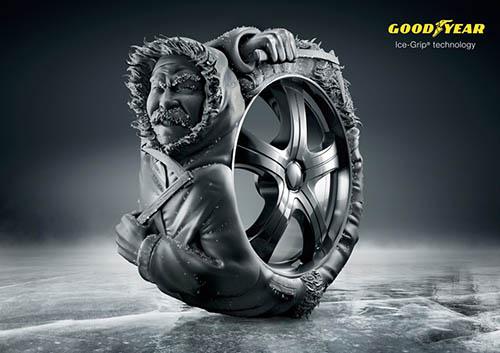 国外somarec轮胎创意平面广告图片