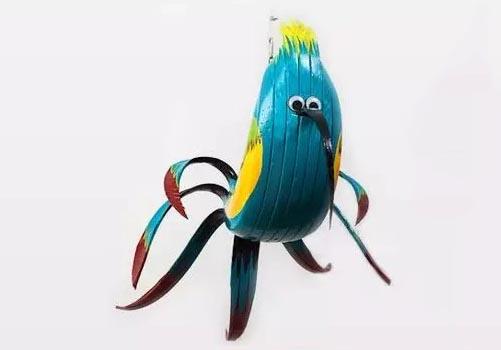 色彩小鸟简笔画