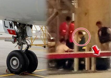 汽车螺丝杆香港机场飞机轮胎伤人