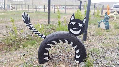 废旧轮胎装扮幼儿园
