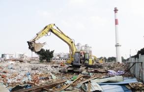 华南橡胶番禺工厂进行拆除